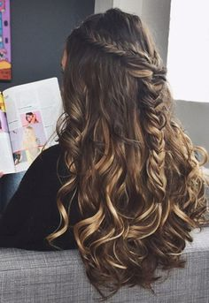 Lovely hairstyle for special events