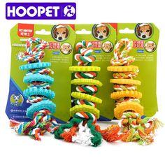 HOOPET Собака Жевать Игрушки Веревки Многоцветный Pet Хлопок Завязанный Плетеный Кость Буксир Собака Жевать Игрушки