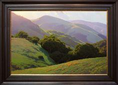 Kevin Courter . Rolling California . oil landscape 24x36