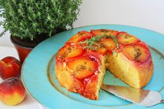 Cinnamon and Coriander: Pfirsich Thymian Upside Down Cake