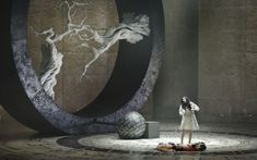 At the current Israeli Opera production of 'Faust,' which opened March 5, 2017, director Stefano Poda's massive rotating wheel dominates the stage (Courtesy Yossi Zwecker)