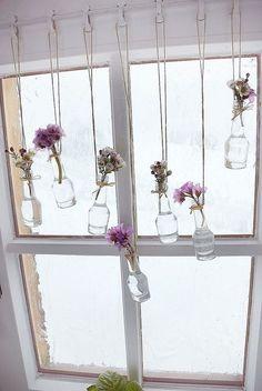 Fensterdeko Hängedeko Landhaus Dekoration Holz Stoff Herz Heimat natur weiß