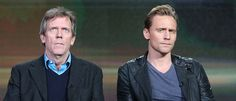 Tom Hiddleston with Hugh Laurie, TCA, 1/8/16.