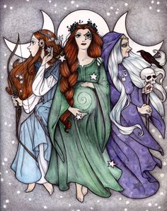 Maiden Mother Crone by Maryanneleslie.deviantart.com on @DeviantArt