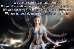Our souls are in different dimensions simultaneously.