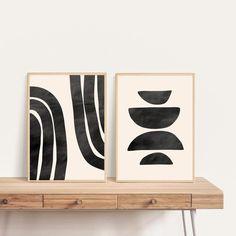 Mid Century Modern Art, Mid Century Art, Modern Art Prints, Modern Wall Art, Diy Canvas Art, Gravure, Abstract Wall Art, Illustrations, Lettering