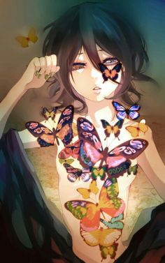 Anime Butterfly Girl
