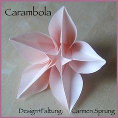 Origami paper folding over ... http://www.origamiseiten.de/diagrams/Carambola_Fuenfeck.pdf