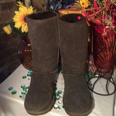 BearPaw Boots BearPaw Winter Boots- Expresso brown-Genuine suede- Sz 9M- Good condition- Warm fur inside. Very nice! BearPaw Shoes Winter & Rain Boots