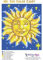 Mr. Sun Pattern or Bead Graph for Beading