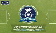 Europorra, la aplicación de Nivea for Men para hacer porras de fútbol con tus amigos
