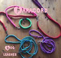 ParaCord dogleashes and leash splitter