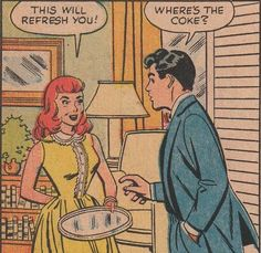 "Comic Girls Say.. ""This will refresh you ! "" #comic #vintage"