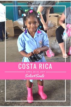 Travel with @soles4souls to #giveshoesgivelove! April 2017. Experience the beauty & the culture of Costa Rica all while giving back.