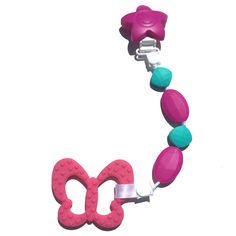 SillyMunk Butterfly Teething Clip