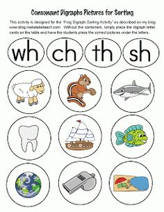 Consonant Digraph Pictures