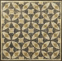 A Roman geometric mosaic panel Circa Century A. Composed of black, white and yellow tesserae, with an overall pattern of intersecting disks, smaller squares in the spandrels, x x Ancient Rome, Ancient Art, Mosaic Patterns, Fabric Patterns, Italian Pattern, Roman History, Roman Art, Geometric Rug, Mosaic Tiles
