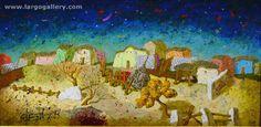 "http://www.largogallery.com/ Artist: Angel Gerdzhkov  ""Landscape IV"", canvas, acrylic"