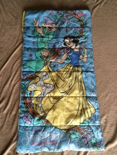 Vintage Snow White and the Seven Dwarfs Child's Sleeping Bag