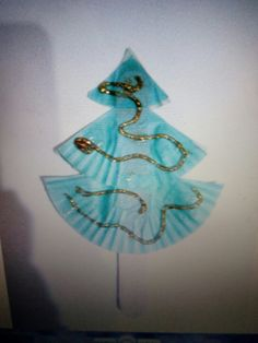 Easy christmas tree on a stick!
