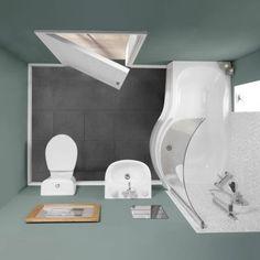 Alton Showerbath Suite (Right Hand) - Small Bathroom Suites - Bathroom Suites