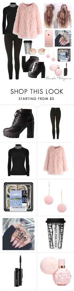 """""""London"""" by valley-g ❤ liked on Polyvore featuring Charlotte Russe, Topshop, Alexander Wang, Chicwish, Forever 21, Dot & Bo, MAC Cosmetics and Gucci"""