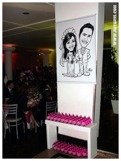 Caricaturas de Eventos - casamento Giovanna e Roberto 23/05/09 Ponta Grossa