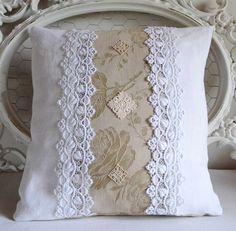 Housse de coussin en toile à matelas et chanvre