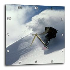 3dRose dpp_96825_3 Snowboarding Mt Baker WashingtonUS48 SMA0064Stephen MateraWall Clock 15 by 15Inch >>> You can find more details by visiting the image link.