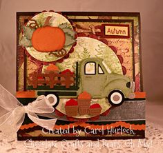 Carol Hurlock: Chocolate, Crafts, and Bears, Oh MY! for CottageBLOG: CottageCutz Flat Bed Truck - 11/9/12 (die: Flatbed Truck; Cat on Pumpkin).  (Pin#1: Transporations: Cars/... Pin+: Dies: Cottage Cutz).