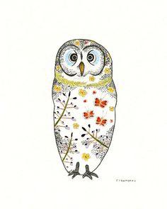 Finland Owl 8x10 Print of Original by StephanieChambersArt, $22.00