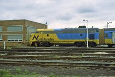 Photographer: pierre fournier Date: Railway: Ontario Northland City/Town: North Bay , Ontario. It's a sad day on September 2012 that we'll never see this train go through North Bay again. Main Page, September 28, Diesel Locomotive, Ontario, Photos, Chicago, Train, Spaces, City
