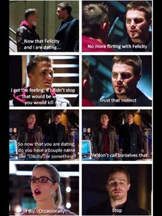 LOL. Never happened on Arrow, but this is hilarious! #Olicity #Arrow