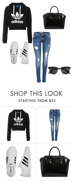 """""""Adidas"""" by mhendrickson009 ❤ liked on Polyvore featuring Topshop, adidas and Givenchy"""