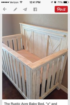 Adorable barn wood crib