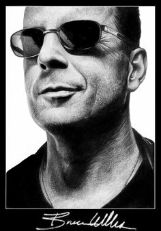 Bruce Willis by theangryfish  | First pinned to Celebrity Art board here... http://www.pinterest.com/fairbanksgrafix/celebrity-art/ #Drawing #Art #CelebrityArt