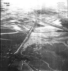 Luchtfoto van de Sloedam in 1944