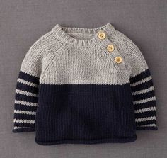 Baby Pullover – Knitting 38 ideas knitting baby jumper boys for 2019 Baby Boy Sweater, Knit Baby Sweaters, Boys Sweaters, Knitting Sweaters, Knitted Baby Cardigan, Men Sweater, Knitting Patterns Boys, Baby Patterns, Baby Sweater Patterns