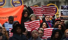 US refugee ban: Trump decried for 'stomping on' American values | US news | The Guardian