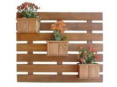 Resultado de imagem para floreiras de madeira