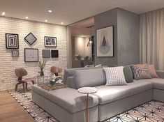 Best Home Decor ideas Home Living Room, Interior Design Living Room, Living Room Designs, Living Room Decor, Bedroom Decor, Living Room Lighting, Small Apartments, House Rooms, Home Fashion