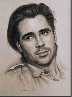 i love this artists style...-Colin Farrell
