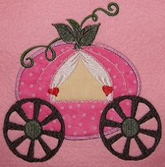 Princess Carriage Applique - 3 Sizes! | Transportation-other | Machine Embroidery Designs | SWAKembroidery.com Katalina's Embroideries