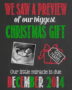 if i get pregnant on the first try (next october) i will be announcing the following christmas. too cute!