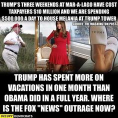 Remember the outrage when Obama would play golf occasionally?