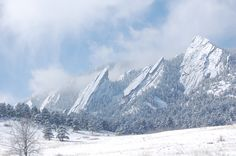 The Flat Irons Morning After a Winter Snow. Boulder, Colorado