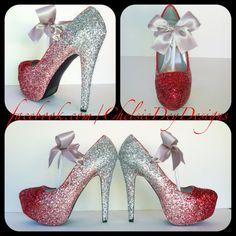 Ombre Glitter High Heels