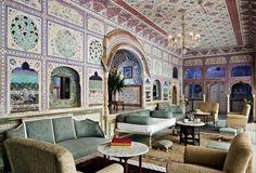 Samode Palace Hotel in Jaipur, India.
