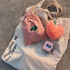 🍦⋅𝚔𝚎𝚖𝚑𝚑𝚠 シ Peach Aesthetic, Korean Aesthetic, Things To Buy, Girly Things, Foto Jimin, Kpop Merch, Aesthetic Pictures, Canvas Tote Bags, Retro
