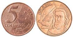 Moedas mais raras e caras do Real - 3 Lugar - Moeda de R$ 0,05 de 1999 e 2000 Valuable Coins, World Coins, Bitcoin Cryptocurrency, Budget Planner, Bitcoin Mining, Coin Collecting, Stamp, Cool Stuff, History